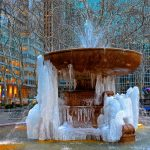 A Freezing Bryant Park in New York