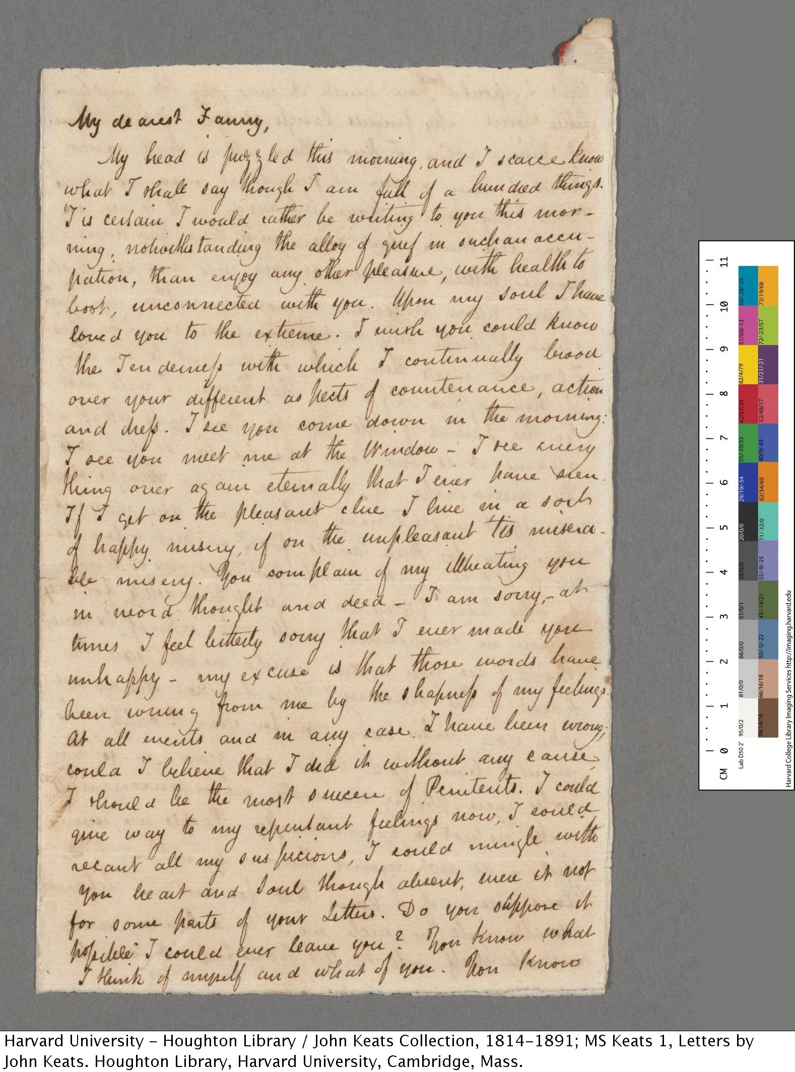 You ve Got Mail Keats in love Houghton Library Blog
