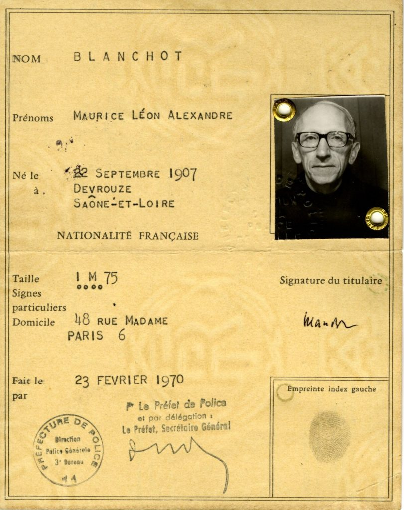 » More Blanchot! Modern Books and Manuscripts