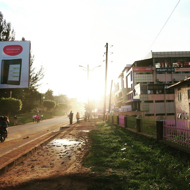 Sunset in Kampala