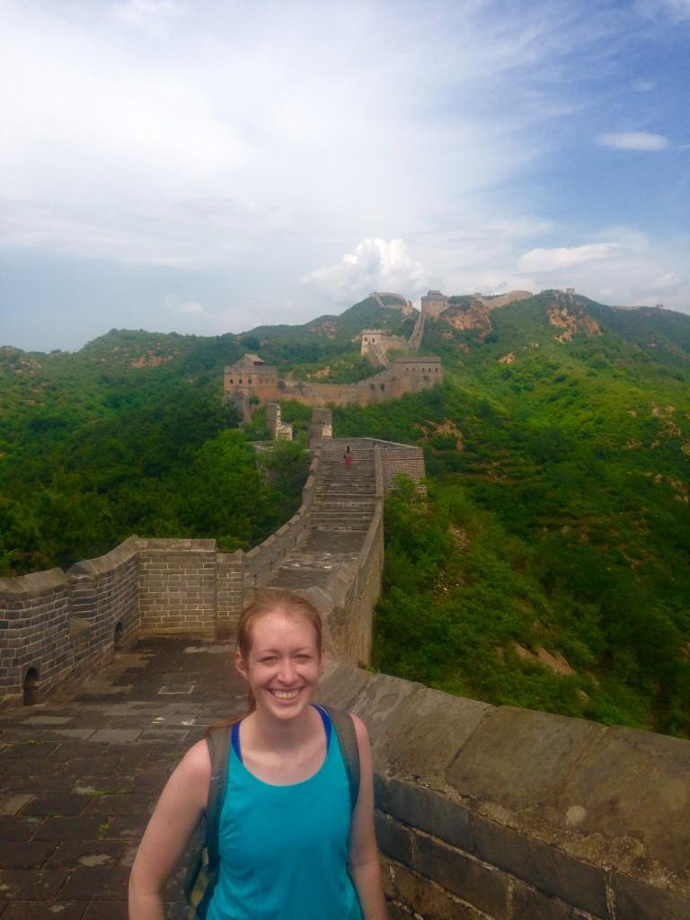 Lisa Dicker '17 at the Great Wall.