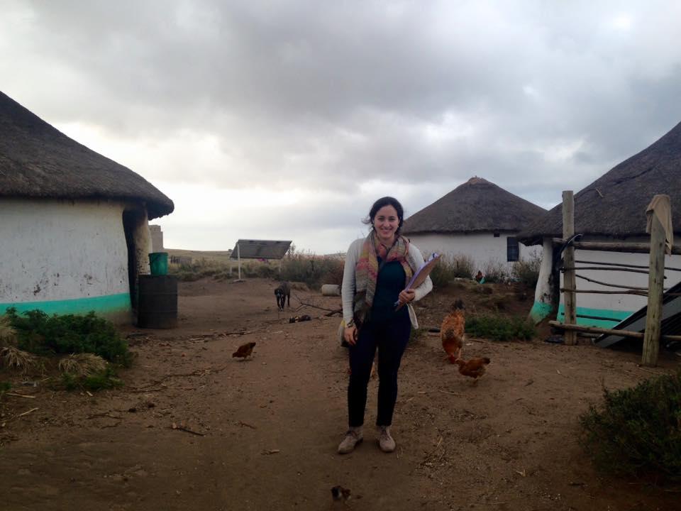Patricia Alejandro '17 in Xolobeni, South Africa.