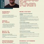 Jacob Khan infographic resume