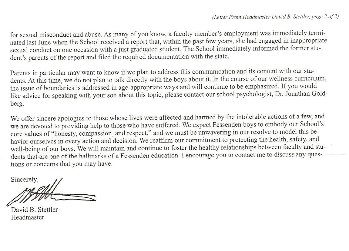 Fessenden School abuse scandal It s worse