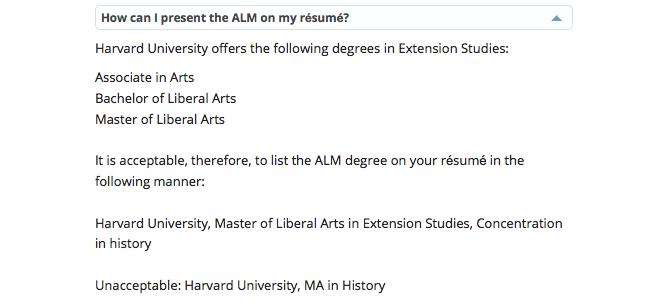 Harvard Extension School résumé guidelines are bogus