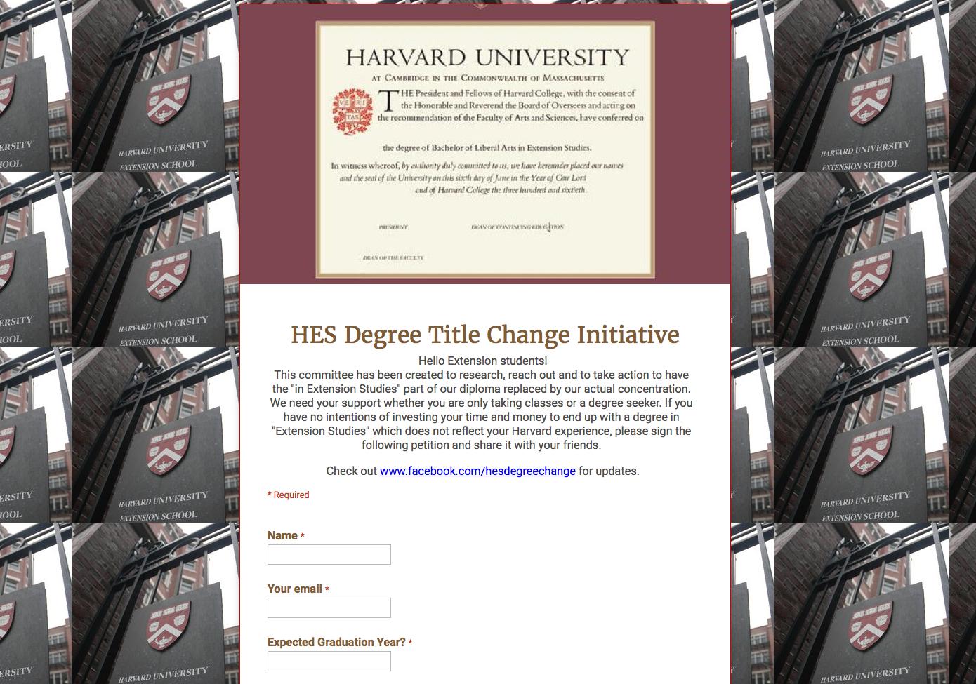 Harvard extension school alm thesis