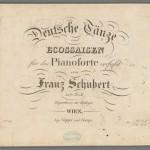 Franz Schubert, Deutsche Tänze und Ecossaisen, D. 783, 1825