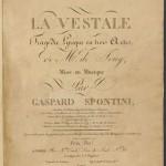 Title page, La Vestale. Mus 813.2.608