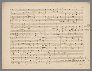 Manuscript of Lefebvre's Kyrie eleison, with corrections by Gounod