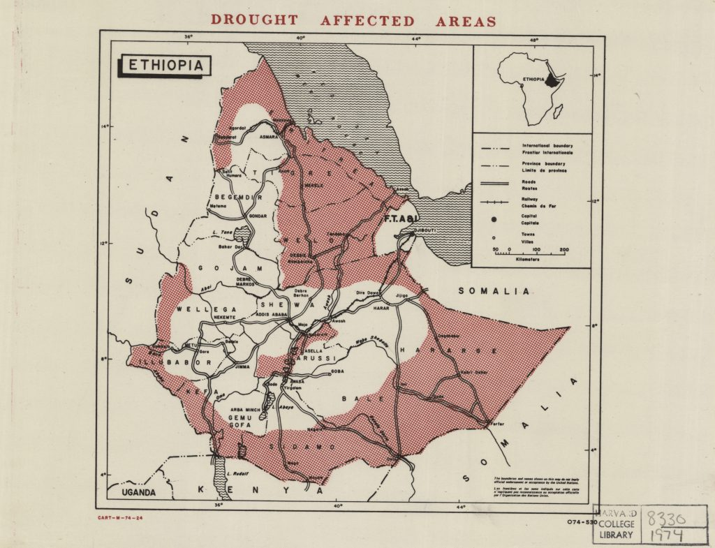 Ethiopia, 1973-1974 | The Harvard Map Collection Presents: